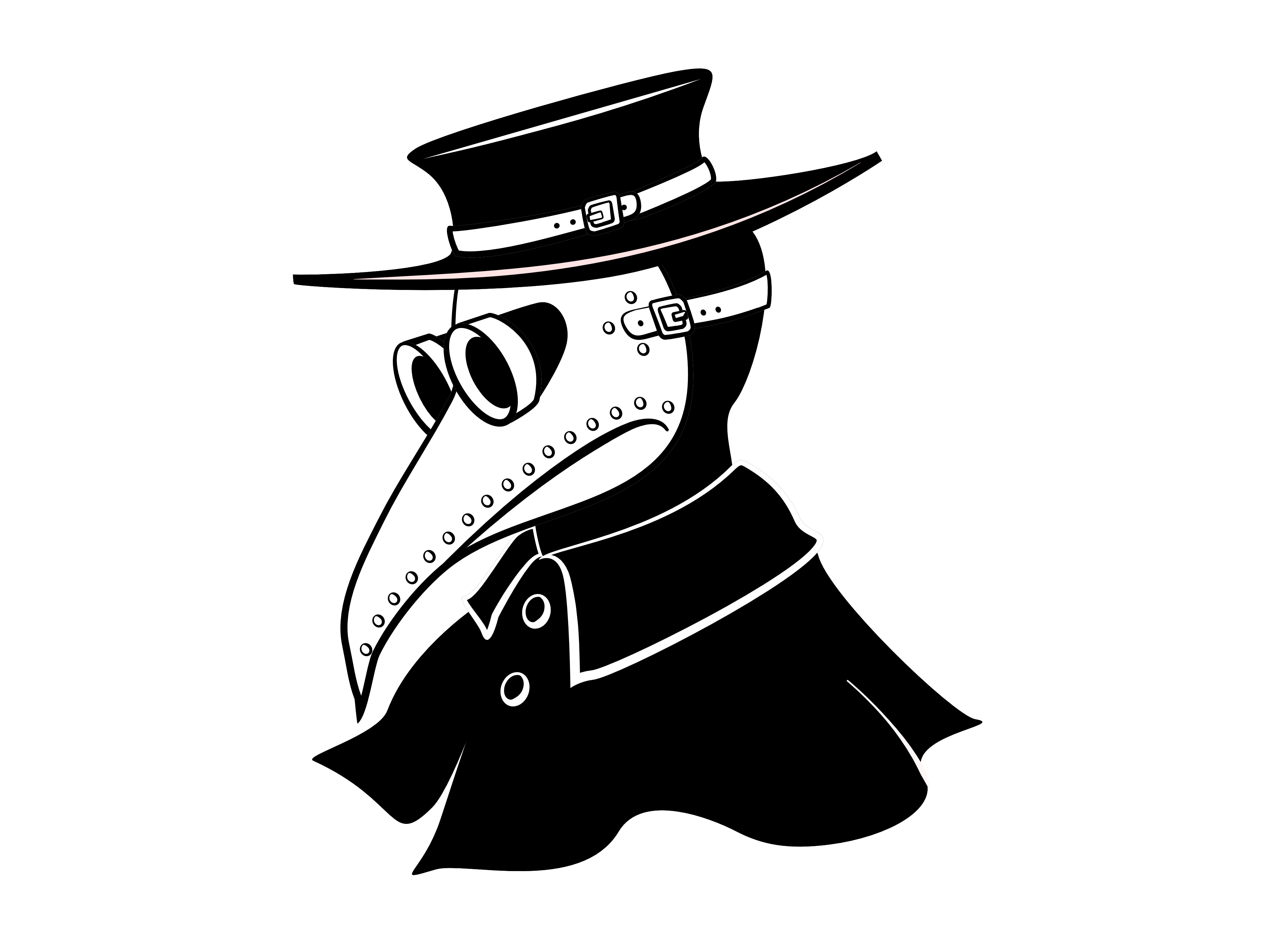 Plague doctor I did for my sister's embroidery template.