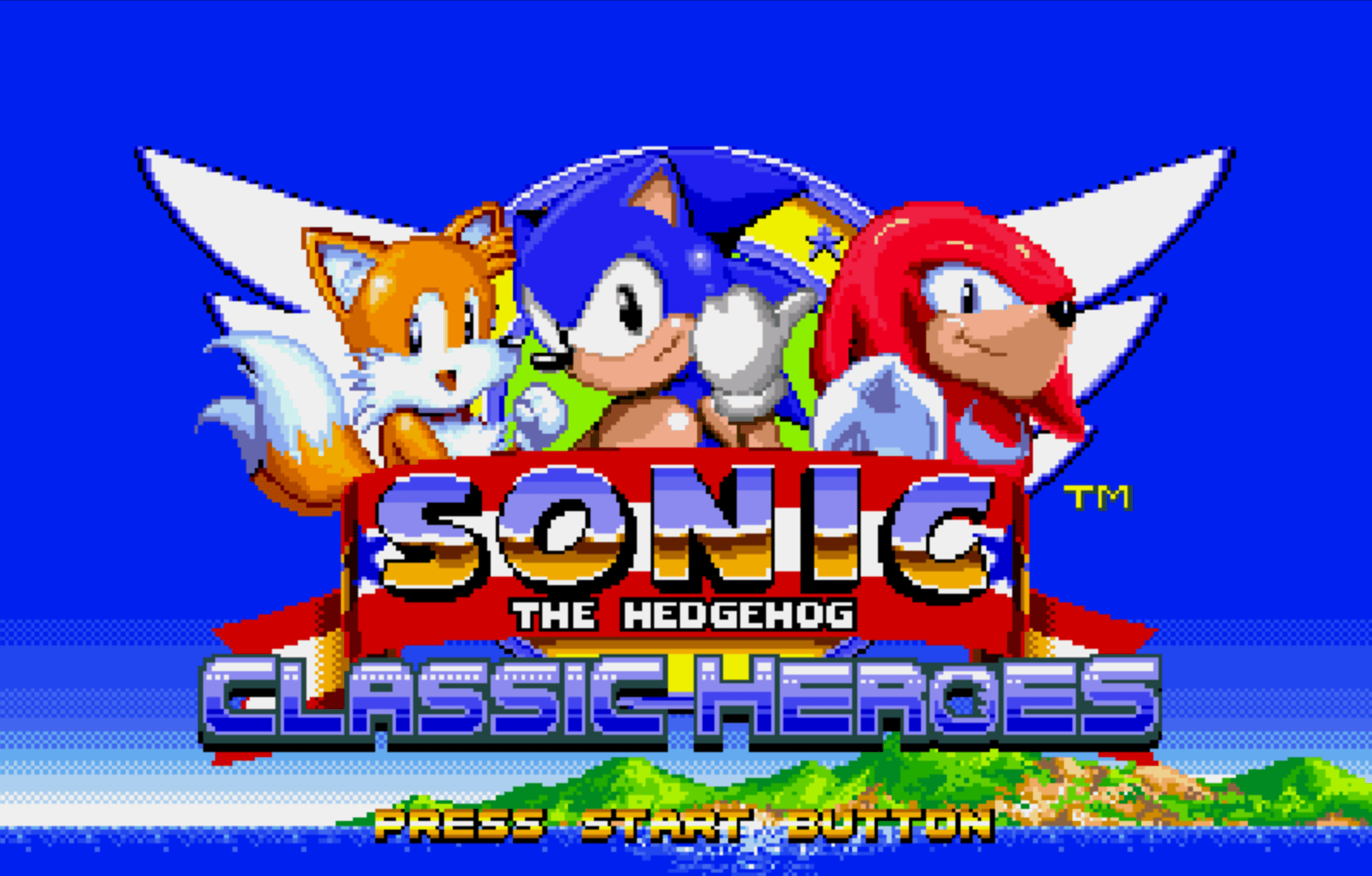 Sonic Classic Heores start screen