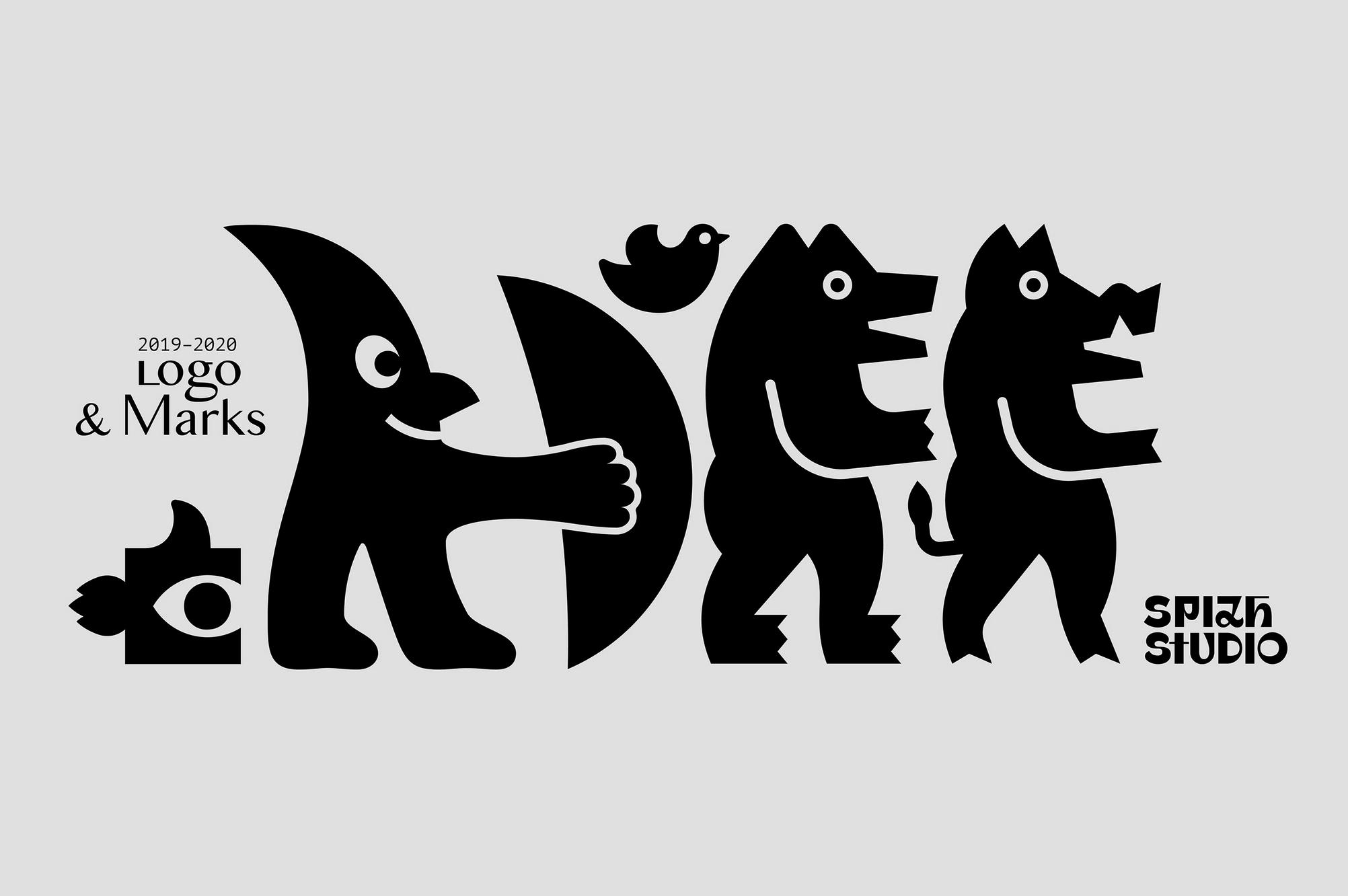 Very fun logo branding. Zhenya Spizh - Logos & Marks