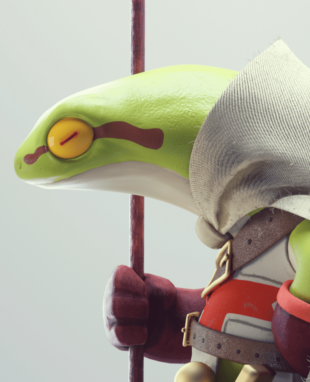 This 3D frog warrior guy is sweet.