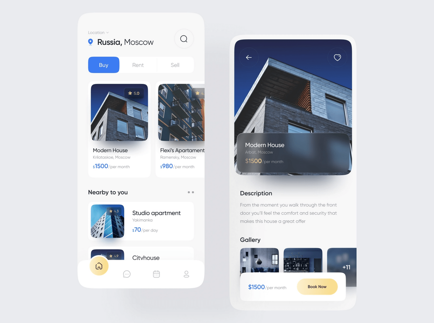 Like the use of blur and smooth corners in this design