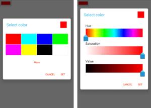 Android Chromium color picker