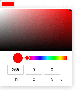 MacOS Chromium color picker