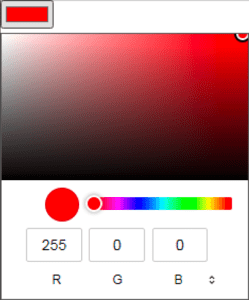Windows Edge and Chromium color picker