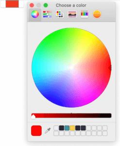 MacOS Firefox color picker