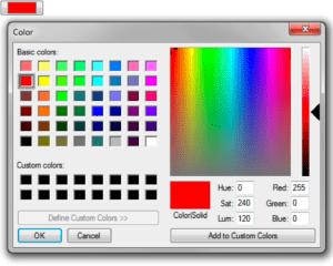 Windows Firefox color picker