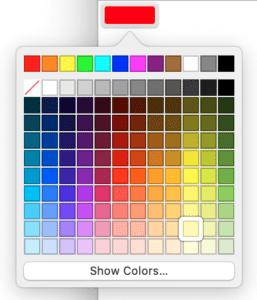MacOS Safari's color picker