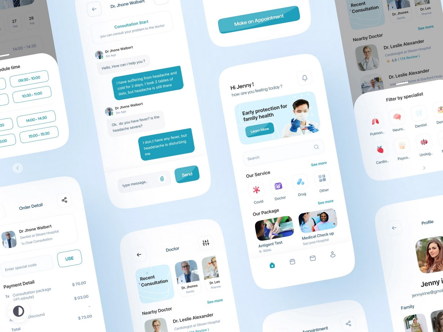Clean and medical looking design system