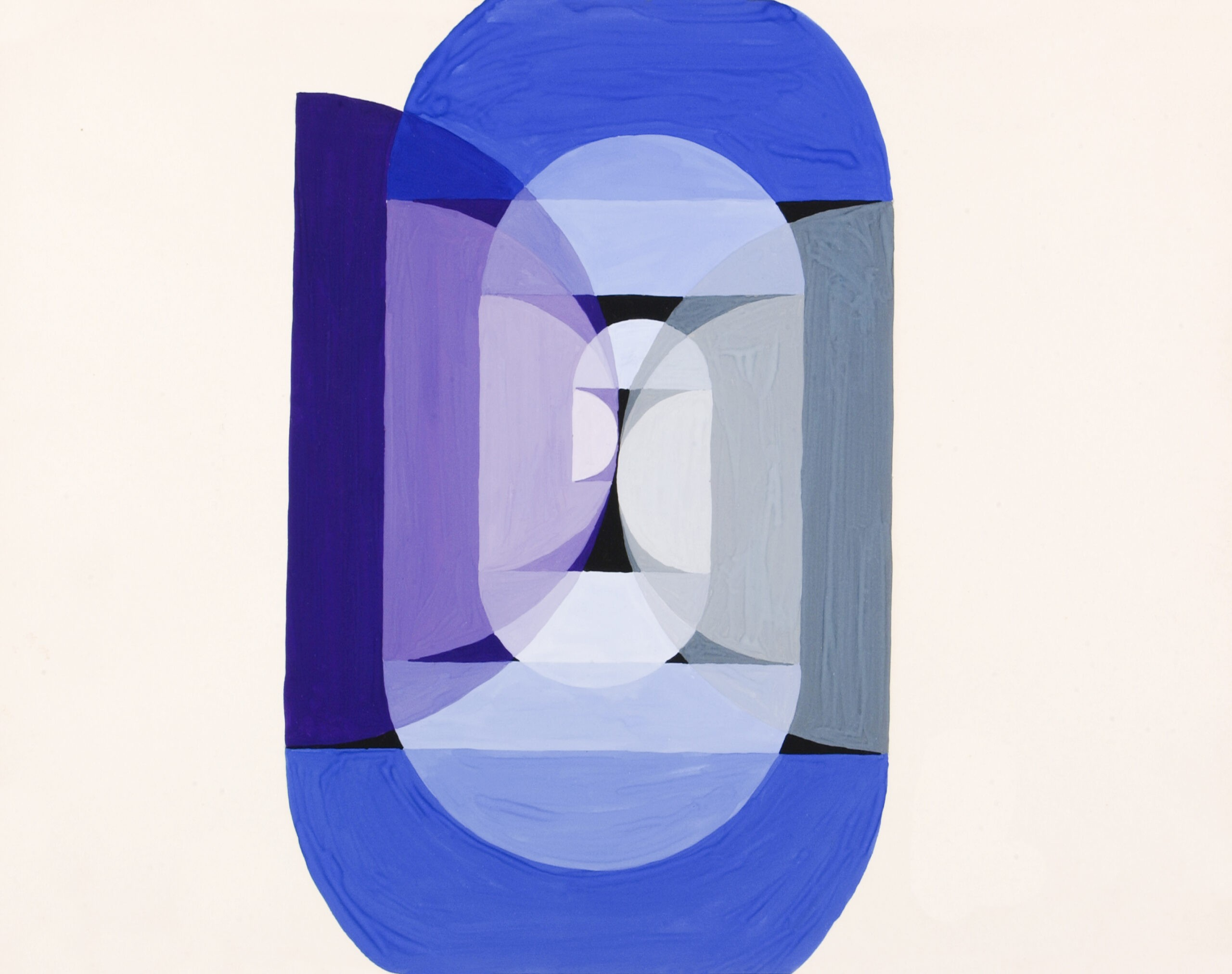Blue Gray Violet Wheel (from series, the Mathematical Basis of the Arts), (ca. 1934) painting in high resolution by Joseph Schillinger. Original from The Smithsonian Institution. Digitally enhanced by rawpixel.