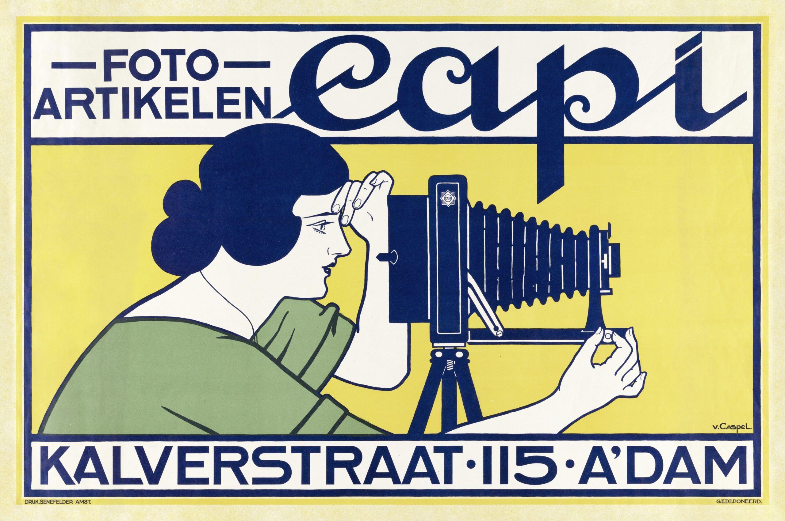 Fotoartikelen Capi; Kalverstraat 115 Amsterdam (18) by Johann Georg van Caspel. Original from The Rijksmuseum. Digitally enhanced by rawpixel.