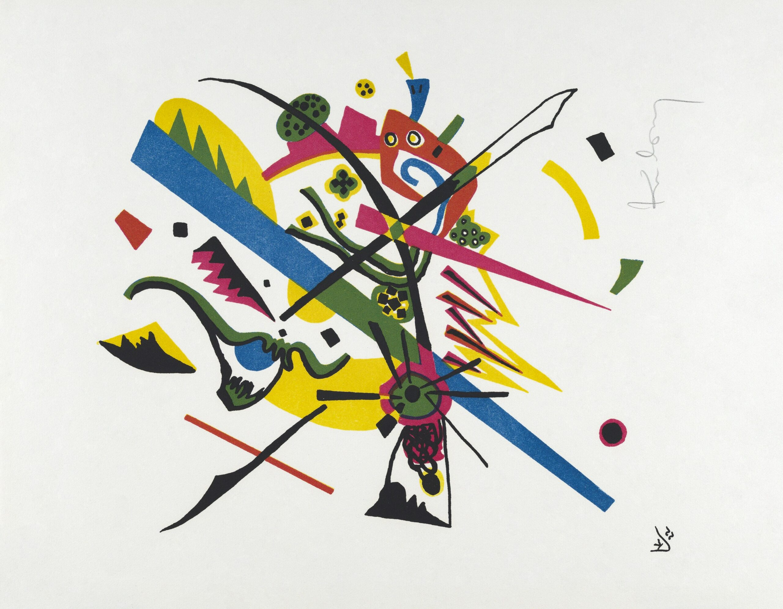 Kleine Welten I (Small Worlds I) (1922) print in high resolution by Wassily Kandinsky. Original from The MET Museum. Digitally enhanced by rawpixel.