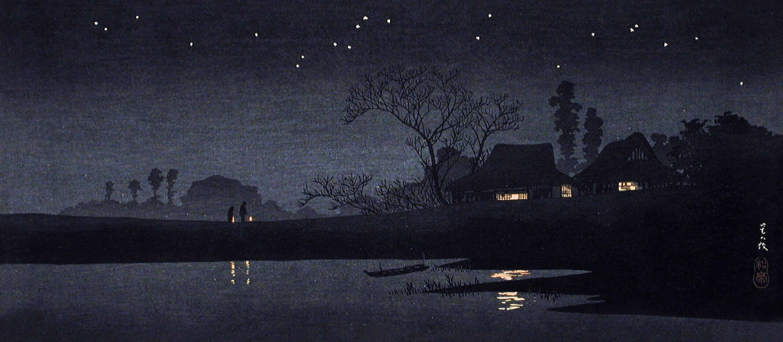 Starry Night (ca.1926–1927) print in high resolution by Hiroaki Takahashi. Original from The Los Angeles County Museum of Art. Digitally enhanced by rawpixel.