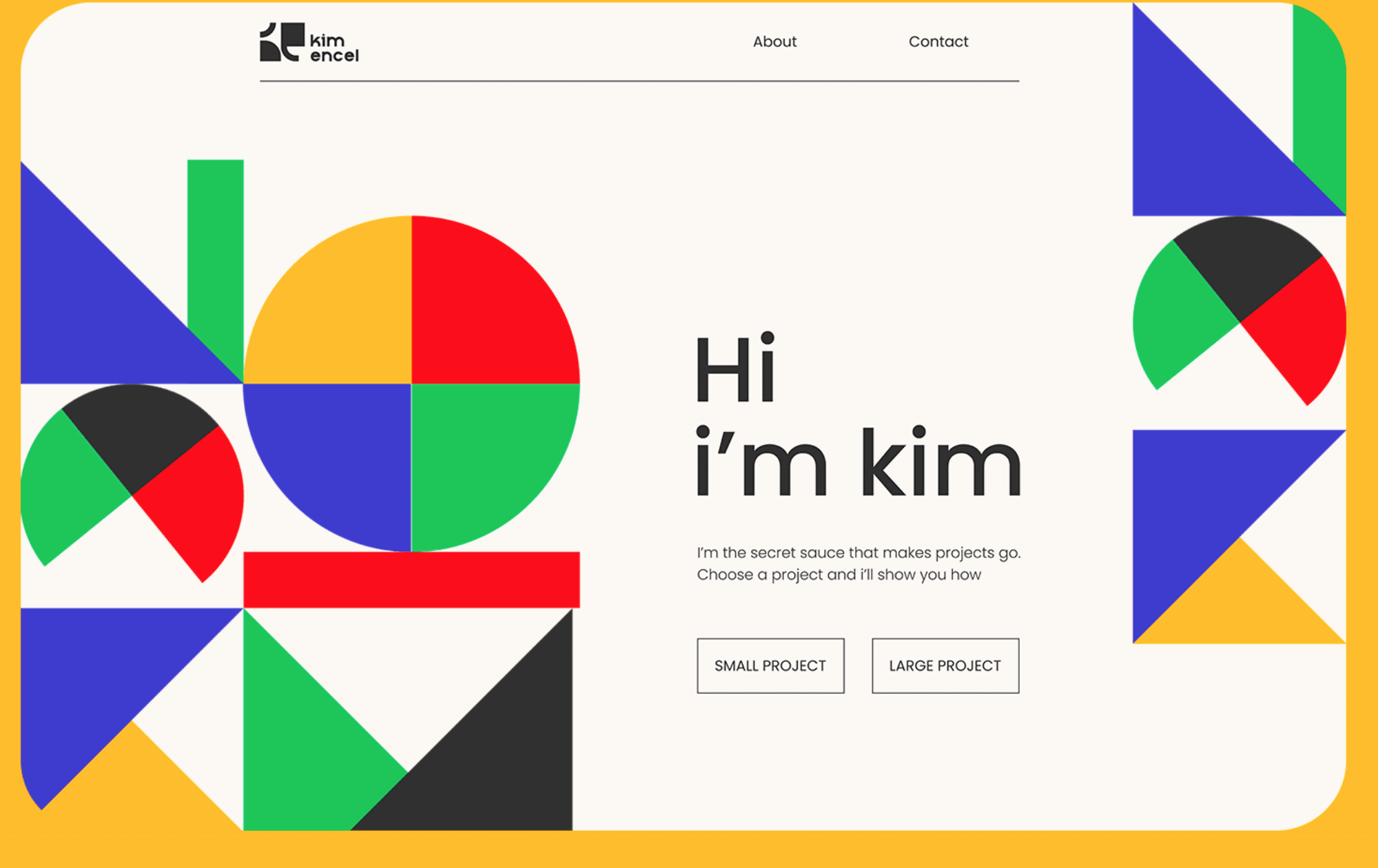 Fresh geometric site style
