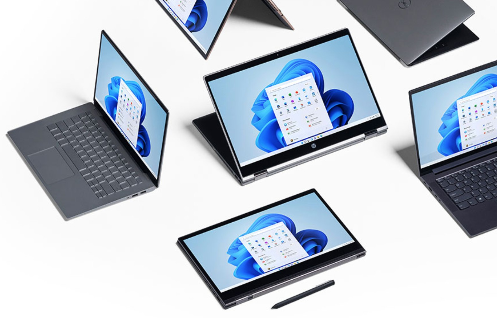Windows 11 running on many different device types