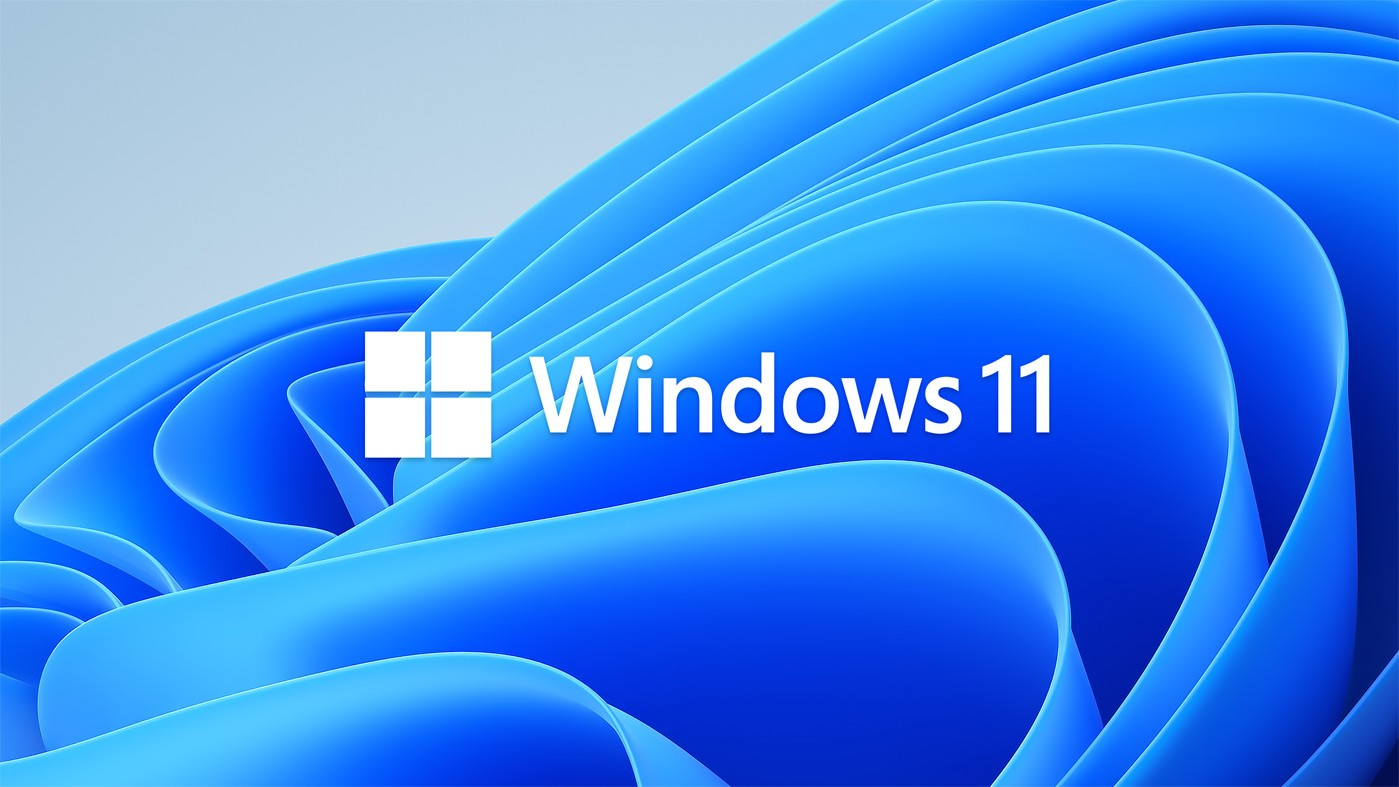 New Windows 11 logo over new folding ribbon desktop image