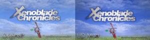 Xenoblade Chronicles start screen mod comparison